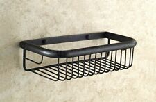 30cm Black Oil Rubbed Bronze Wall Mounted Shower Caddy Bathroom Storage Basket
