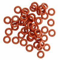 50 Stueck Silikon O-Ring Unterlegscheiben 8 mm x 4 mm x 2mm - Rot E9E5