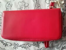 TRENDY RED LARGE WALLET