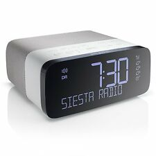 Pure Siesta Rise DAB Alarm Clock Digital Radio with FM and USB Charging