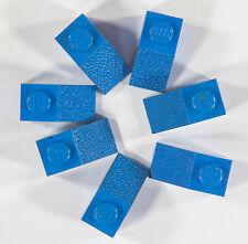 VINTAGE LEGO 1 x 2 stud 45 biseauté pente brique Tuile Bleu 1970 S Lot de 7