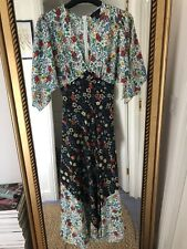Topshop IDOL midi dress in mixed floral print size 8