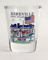 ASHEVILLE NORTH CAROLINA GREAT AMERICAN CITIES COLLECTION SHOT GLASS SHOTGLASS
