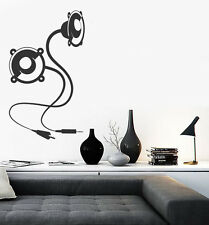 Large Vinyl Decal Abstract Music Background usb speakers Wall Sticker (n634)