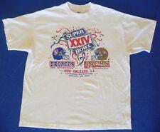 Vintage NFL San Francisco 49ers Denver Broncos Super Bowl XXIV 1990 T-shirt L-XL