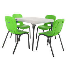 Lifetime Kids Table with 4 Lime Chairs, Home School Or Daycare, Holiday, Play