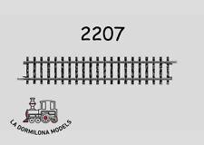 MÄRKLIN 2207 - H0 - VIA RECTA TIPO K / Longitud 156 mm.  - NUEVO (c70)