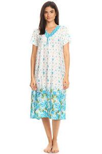 811 Women Nightgown Sleepwear Pajamas Short Sleeve Sleep Dress Nightshirt