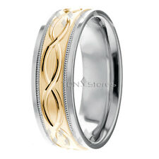 10K Gold Infinity Wedding Rings Bands Womens Mens Gold Wedding Bands Rings 7mm