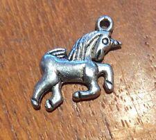 Unicorn Rockabily Silver Coloured Craft Charms