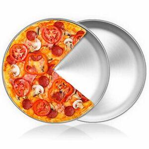 HaWare Pizzablech Rund 30cm Edelstahl 2 Stück Backofen Backen Ungiftig&Gesund
