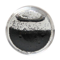 Black Glitter Snow Globe Acrylic Saddle Ear Plug 8mm- 26mm Flesh Tunnel Shimmery