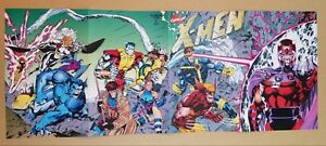 X-Men 1 Magneto Wolverine Gambit Rogue Psylocke Marvel Comics Poster by Jim Lee