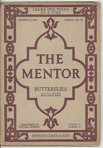 The Mentor Magazine August 1915 Butterflies 6 Full Color Gravures