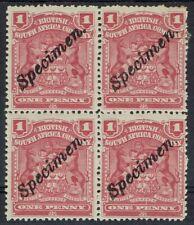 RHODESIA 1898 ARMS 1D SPECIMEN BLOCK */**