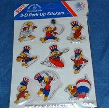 Vintage 80's Olympic 3-D Puffy Stickers Karate Rowing Tennis Wrestling NOS NIP