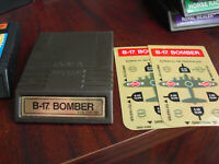 Vintage 1982 Intellivision B-17 Bomber Video Game Cartridge with Overlays