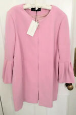 Ladies Zara Woman Coat With Ruffled Cuffs Pink Size XS BNWT RRP£89.99 LAST ONE