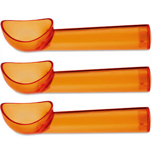 3 Pastic Moulded Ice Cream Scoops - Wide grip for easy hold, Dishwasher safe