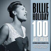 BILLIE HOLIDAY - 100 JAZZ GREATS  4 CD NEW