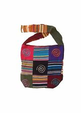 PATCHWORK HINDI PATTERN SHOULDER SHOPPER BAG COTTON ETHICALLY SOURCED INDIA