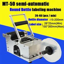 MT-50 Halbautomatische Runde Flaschen-Etikettiermaschine Etikettiermaschine