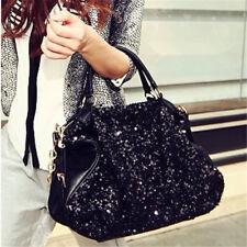 2019 New Women Large Bling Sequins Handbag Leather Ladies Crossbody Shoulder Bag