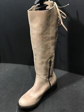 Patron Beige Stina Knee-High Leather Womens  Boots Size US 6.5 M New