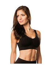 Vint New Genie Seamless Full Support Wire Free Bra with Removable Pads Black XL