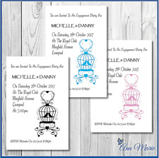 10 x ENGAGEMENT PARTY INVITES PERSONALISED ENGAGEMENT PARTY INVITATIONS CARDS
