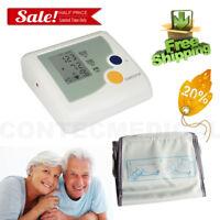 New CONTEC Digital Big Font LCD Upper Arm Blood Pressure Monitor+Adult NIBP Cuff