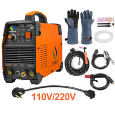 HITBOX TIG Welder Stick 200A 110/220V Dual Voltage Inverter IGBT Welding Machine