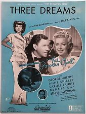 "1943 ""THE POWERS GIRL"" MOVIE SHEET MUSIC ""THREE DREAMS"" BENNY GOODMAN"