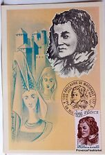 Yt 1955 Guillaume de machault france maximum card 1 ° day fcp