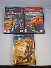 Sony Play Station 2 PS2 Midnight Club Conflict Desert Storm Tak 3 Game Lot