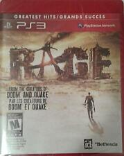 Rage: Greatest Hits. Playstation3. Sealed.Game Disc In English, French, Spanish.