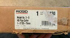 "Ridgid 32830 Heavy Duty Tubing Pipe Cutter Model 3-S 1"" to 3"" NEW!!! in Box"
