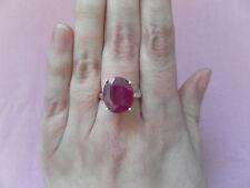 Traumhaft schöner Silber-Ring mit Rubin in 925er Sterling Silber