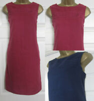 NEW Next Shift Tunic Dress Linen Blend Sleeveless Summer Sun Berry Navy 6-18