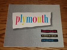 Original 1951 Plymouth Cranbrook Cambridge Concord Sales Brochure 51