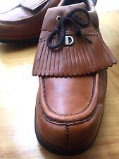 Vintage, Dexter Golf Shoes/ Cleats, Kiltie Fringe, Men's 11.5M, Cognac Leather