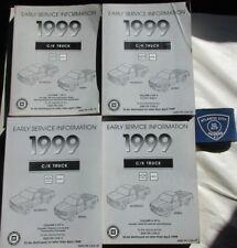 1999 CHEVROLET SILVERADO GMC SIERRA C/K TRUCK EARLY SERVICE MANUAL SET