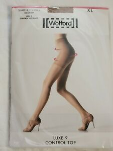 Wolford Luxe 9 Control Top Tights, Fairly Light, XL