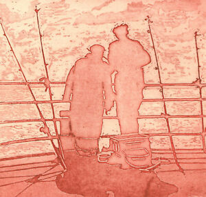 Contemporary Etching - Gone Fishing