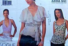 2850 Vogue Designer Anna Sui Misses Tops Pattern sz  6-10  UNCUT