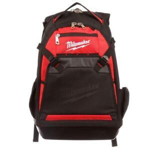Milwaukee Jobsite Backpack Tool Bag Tools Storage  Organizer w/ Laptop Sleeve
