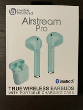 Airstream True Wireless Earbuds with Portable Charging Case Blue Teal New Nib