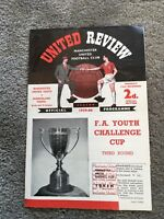 MANCHESTER  UNITED YOUTH V SUNDERLAND YOUTH FA YOUTH CHALLENGE CUP 1959/60