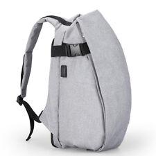 Men Nylon Anti-theft Backpack Fashion Travel Bag Laptop Backpack with USB Chargi