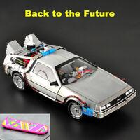 Hot Wheels 1:18 Scale DeLorean Back to the Future DMC-12 Time Machine Car Model